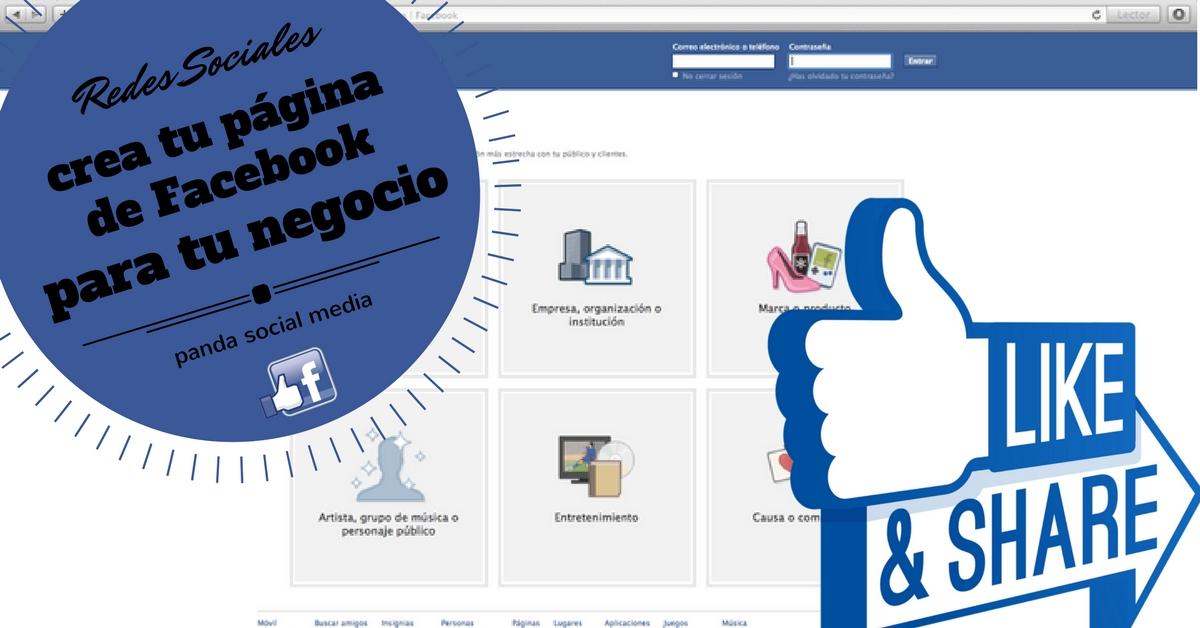 Crea una Página de Facebook para tu negocio