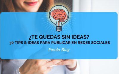 Ideas para publicar en redes sociales